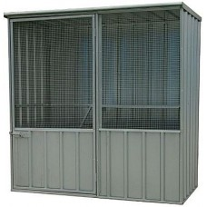 Silver Aviary Flat Roof with 1 Door 1.5m x 0.8m x 1.5m(h)