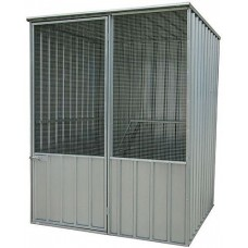Silver Aviary Flat Roof with 1 Door 1.5m x 1.5m x 1.9m(h)